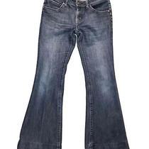 Dl1961 Women Flare 4 Way Stretch Comfort 360 Blue Jeans Size 28 Pockets - U Photo