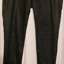 Dl1961 Women's Emma Power Legging Char Black Waxed Denim Size 29 Photo