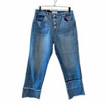 Dl1961 Womens Patti Crop Straight Leg Jeans Blue Button Fly Stretch Denim 30 New Photo