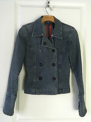DNKY Jeans Ladies Blue Denim Jean Double Breasted Jacket Size XS Photo