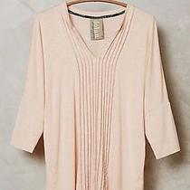 Dolan Anthropologie Pullover Top Pleat Line Tee Blush Pink Photo