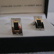 Dolan-Bullock Ring and Cufflinks  Diamond Sterling Silver and 14k Gold  Photo