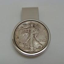 Dolan Bullock Sterling Silver Money Clip 1946 Walking Liberty Silver Half Dollar Photo