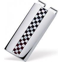 Dolan Bullock Sterling Silver & Onyx Checkerboard Money Clip Photo