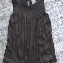 Dolan Left Coast Anthropologie Smocked Swing Sleeveless Top Olive Green Xs Photo