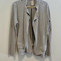 Dolan Left Coast Anthropologie Striped Soft Slouchy T-Shirt Cardigan Blazer Sz M Photo
