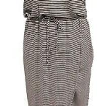 Dolan Left Coast Collection Black & White Stripe Maxi Sleeveless Dress Petite M Photo