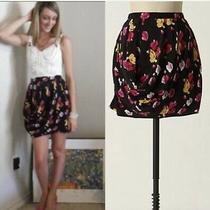 Dolan Left Coast Skirt Size Xs Multi Color Floral Straight Draped Pencil Photo