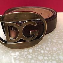Dolce and Gabbana Brown Leather Belt Never Worn  Photo