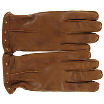Dolce E Gabbana d&g New Men Leather Gloves Wool Inside Brown Made Italy Original Photo