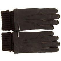 Dolce E Gabbana d&g New Men Leather & Wool Gloves Brown Made in Italy Original Photo