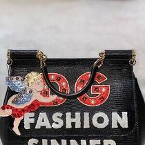 Dolce Gabbana Bag Black Patches New Photo