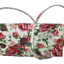 Dolce & Gabbana Bag Purse Clutch Floral Roses Leather Cross Body Borse Rrp 1000 Photo