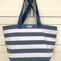 Dolce & Gabbana Beach Tote Purse Light Blue Canvas Shopping Bag- Medium Photo