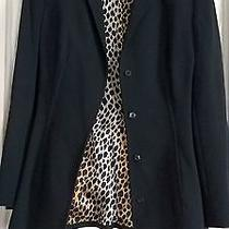 Dolce & Gabbana  Black Amazing Fitted Corset Blazer  Leopard  Size Small  Photo