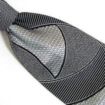 Dolce & Gabbana Black & Gray Modern Men's Silk Tie Necktie Italy Photo