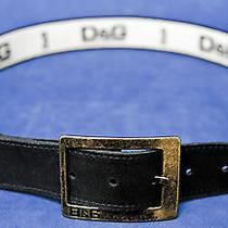 Dolce Gabbana Black Leather Belt Photo