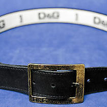 Dolce Gabbana Black Leather Belt Photo