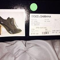 dolce&gabbana Black Patent Leather With Wood Heel  Photo