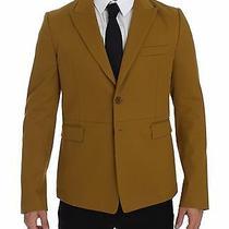 Dolce & Gabbana Blazer Jacket Yellow Cotton Stretch It52 / Us42 / Xl Rrp 1900  Photo