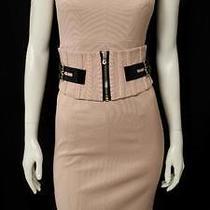 Dolce & Gabbana Blush Cap Sleeve Belted Sheath Dress Size 40 Photo