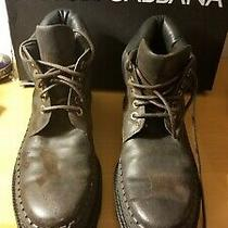 Dolce & Gabbana Boots Distress Brown Leather  Ankle  Eu43/ Us10 Rrp 1200 Photo
