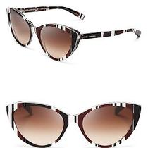 Dolce & Gabbana Brown Striped Cat Eye Sunglasses Photo