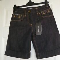 Dolce & Gabbana d&g Denim Shorts - Size 8 - Brand New With Tags - Vintage Photo