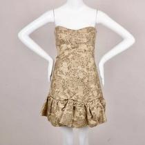 Dolce & Gabbana  d&g Gold Methallic Strapless Corset Mini Dress Sz 40 Small Photo