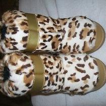Dolce Gabbana D & G Junior Size 29-31 Gold Brown Winter Boots  (See Description) Photo