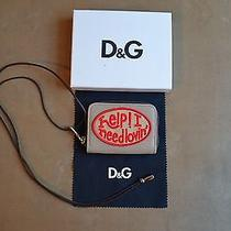 Dolce & Gabbana d&g Multicolor Emberoidered Patches Zip & Safe Necklace Wallet Photo