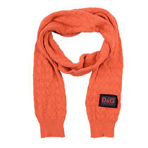 Dolce & Gabbana d&g Orange Wool Cashmere Scarf Photo