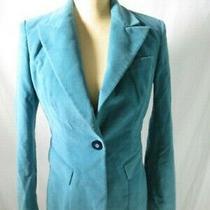 Dolce & Gabbana d&g Teal Blue Velvet Blazer Size 28/42-Us 6 Photo