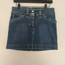 Dolce & Gabbana Embroidered Denim Mini Skirt Size 40 Photo