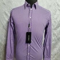 Dolce & Gabbana Gold Fit Button Down Shirt - Purple Size 15-1/2 Us 39 Eur Italy Photo