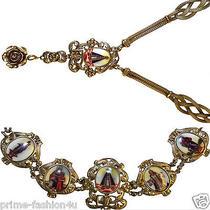 Dolce Gabbana Gold Plated 925 Sterling Silver Virgin Mary  Necklace  Bracelet  Photo