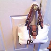 Dolce & Gabbana Handbag Shopping Celtic  White Leather/lacquer Photo