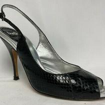 Dolce & Gabbana Italian Open Toe Shoes Heels Slingback Sandals Sz 37 1/2 Us Sz 7 Photo