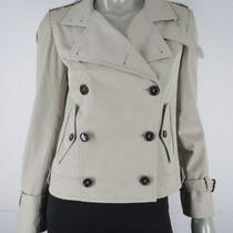 Dolce Gabbana Jacket Coat Size 4 40 S New Tan Khaki Beige Trench Peacoat Photo
