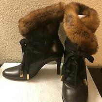 Dolce & Gabbana Leather Bootie With Far Women Size 36 Used Photo