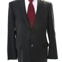 Dolce & Gabbana Men's Two Button Collared Blazer Jacket Wool Gray Size 50 Photo