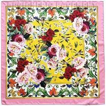 Dolce & Gabbana Pink & Yellow Majolica Red Roses 27