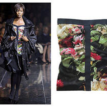 Dolce & Gabbana Sheer Floral Tube Top Bustier Corset Runway Naomi Campbell 40 S Photo