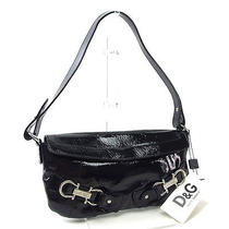 Dolce & Gabbana Shoulder Bag One Belt Ladies With Logo Silver Pink Enamel Photo