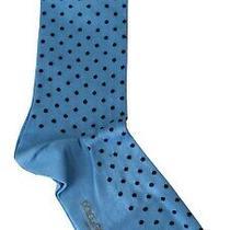 Dolce & Gabbana Socks Mens Blue Cotton Nylon Polka Dots Pattern S. L Rrp 120 Photo