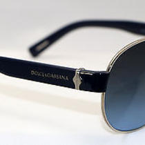 Dolce & Gabbana Sunglasses Dg 2117  05/8f Blue Silveraviator  New Authentic Photo