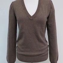 Dolce & Gabbana v-Neck Sweater With Reverse Seams Mocha Size 40 Gently Worn Photo