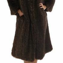 dolce&gabbana Women Brown Coat 100% Raccoon Fur Thermal Fluffy Jacket Sz It 40 S Photo