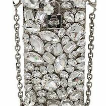 dolce&gabbana Women Silver Crowwbody Bag Crystals Detachable Chain Strap Purse Photo