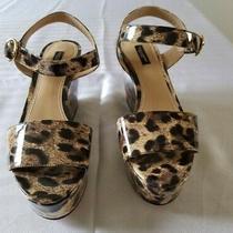 Dolce Gabbana Women Wedges Sandals  Shoes Size 39 Authentic Leopard Prints. Us 9 Photo
